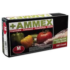 #PGLOVE-500 Ammex Poly Food Service Disposable Gloves