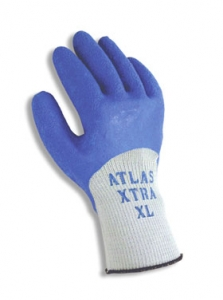 305 Showa® Best® Atlas Xtra® 305 Blue Coated Knit Gloves with Rough Texture