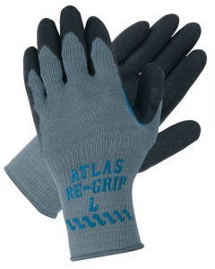 330 Showa® Best® Atlas Re-Grip® 330 Black Coated Light Gray Knit Gloves with Rough Texture