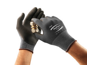 Ansell HyFlex® Light Weight FORTIX™ Foam Nitrile Palm Coated Work Glove, 11840 Ansell® HyFlex® 11-840 FORTIX™ Coated Protective Knit Gloves