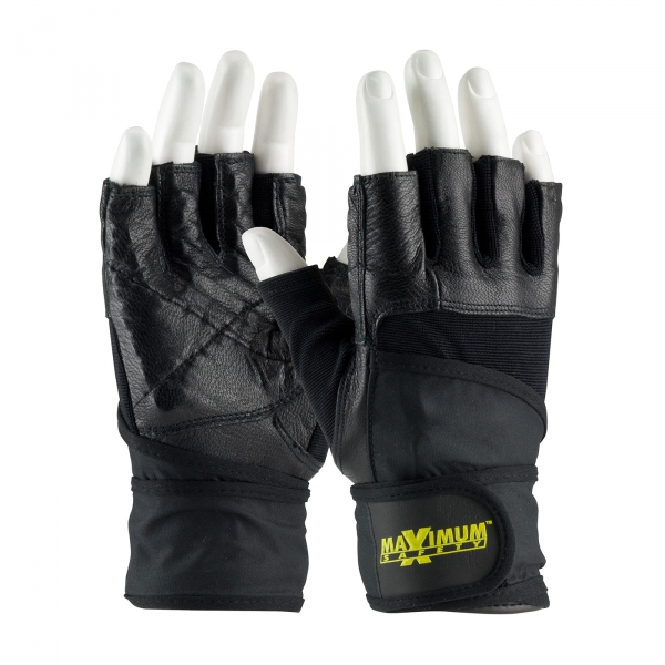 PIP® Maximum Safety® Anti-Vibration Half Finger Glove #122-AV20