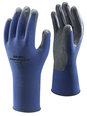 380 Showa® Best® Atlas® Ventulus® 380 Blue Nitrile Coated Knit Gloves