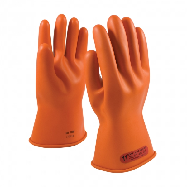 #147-0-11 PIP NOVAX® Class 0 Rubber Insulating 11` Orange Glove w/ Straight Cuff