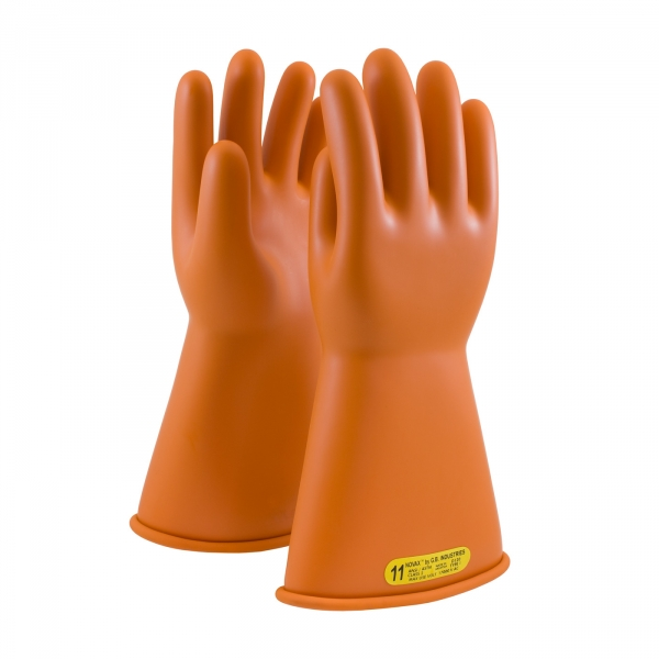 #147-2-14 PIP® NOVAX® Class 2 Orange Rubber Insulating 14` Glove w/ Straight Cuff