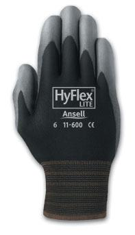Ansell HyFlex® 11-600 Lite Polyurethane Coated Glove, 11600 HyFlex® 11-600 Coated Protectiive Knit Gloves