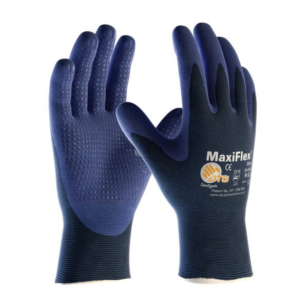 34-244 PIP® MaxiFlex® Elite™ 18-Gauge Seamless Knit Gloves w/ Nitrile Coated Micro Dot Palm Grip