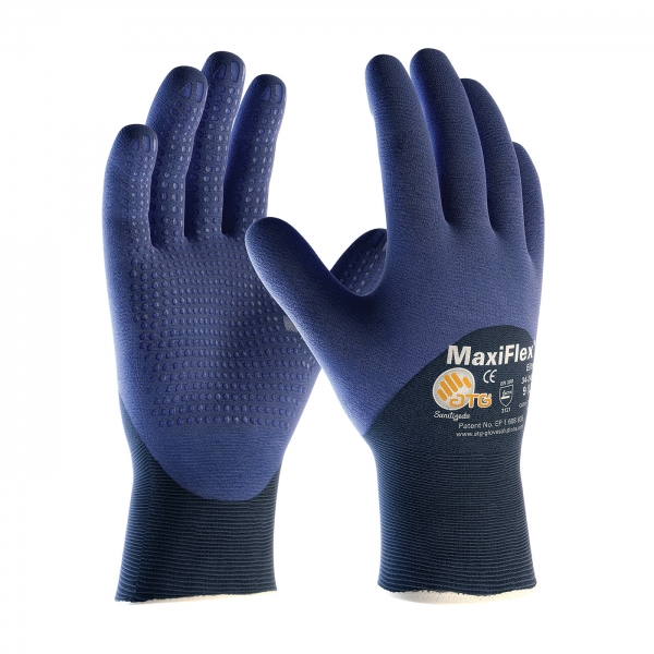 34-245 PIP MaxiFlex® Elite™ Ultra Light Weight  Glove w/ 3/4 Nitrile Coated Micro Dot Palm