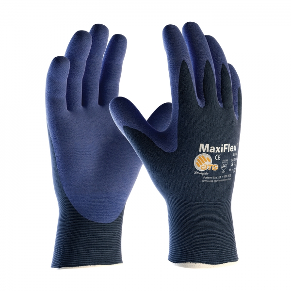 #34-274 PIP® MaxiFlex® Elite™18-Gauge Seamless Knit Nylon Gloves with Nitrile Micro-Foam Grip
