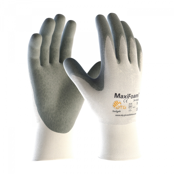 PIP MaxiFoam® Premium Seamless Knit Nylon Glove with Nitrile Coated Foam Grip on Palm & Fingers #34-800