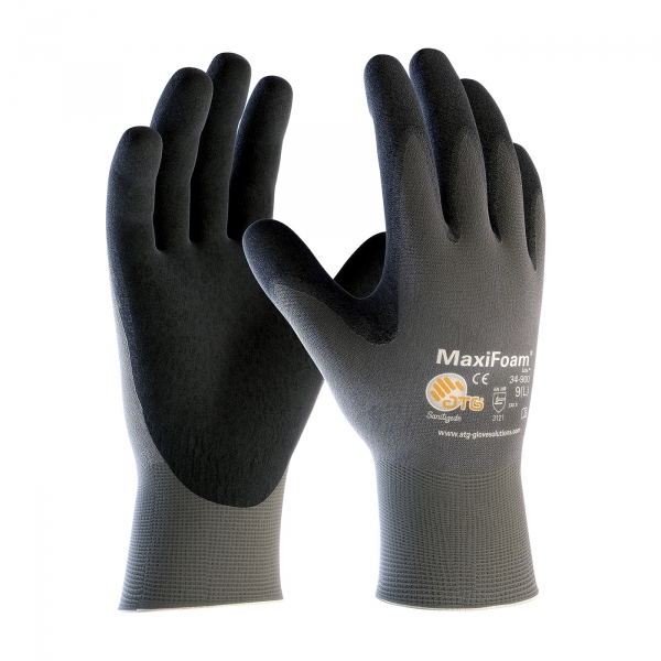 #34-900 PIP MaxiFoam® ATG® Lite Seamless Knit Nylon Glove with Nitrile Coated Foam Grip on Palm & Fingers