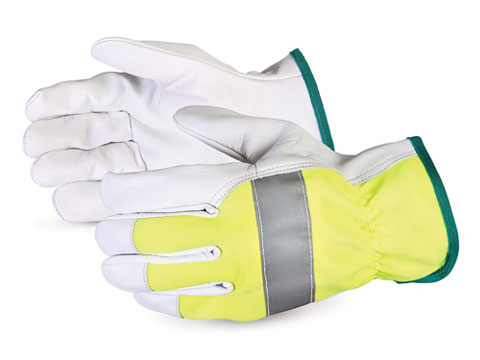 #378GAHVB Superior Glove® High-Viz Endura® Goat-Grain Driver Gloves