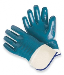 Nitrile Fully Coated Jersey Lined Work Glove With Safety Cuff
