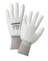 Economy Polyurethane Palm Coated White Nylon Gloves