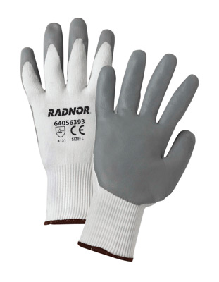 Premium Foam Gray Nitrile Palm Coated White Knitted Work Gloves