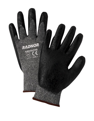 Premium Black Foam Nitrile Palm Coated S&P Knitted Work Gloves