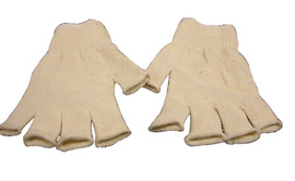 Standard Weight Polyester/Cotton Fingerless String Gloves With Knit Wrist