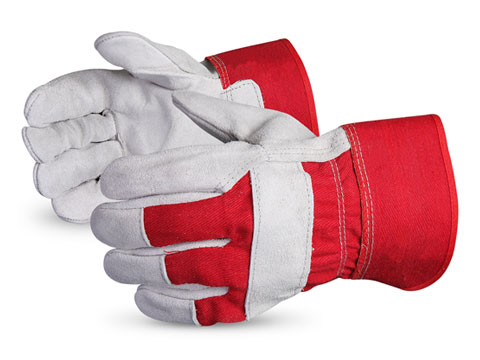 Superior Glove® Endura® Red Split-Leather Fitters Gloves #66BRRED