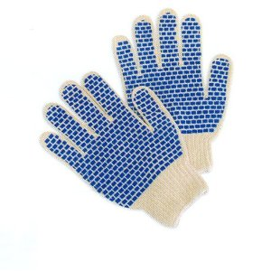 Two-Sided PVC Block String Grip Gloves