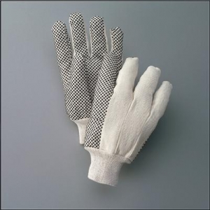 Economy PVC Dotted Cotton Canvas Work Gloves