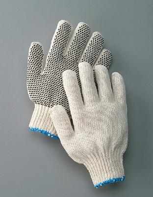 One-Sided PVC Dot String Glove, Economy PVC Dot String Work Gloves