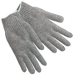 Medium Weight Polyester/Cotton Ambidextrous String Gloves With Knit Wrist