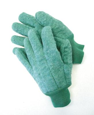 Fleece Chore Gloves With Knitwrist