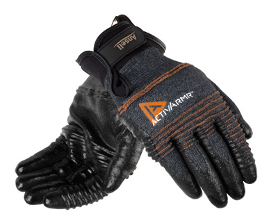 97008 Ansell® ActivArmr® Medium-Duty Coated Cut-Resistant Protective Work Gloves, cut level 2