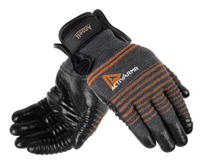 97-009 Ansell® ActivArmr® Multi-Purpose Heavy-Duty Coated Cut-Resistant Protective Work Gloves, cut level 4