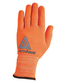97-013 Ansell Hi-Viz Orange ActivArmr® Seamless Knit 13 gauge Medium-Duty Cut Resistant Gloves