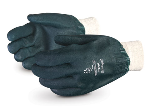 #F200K Superior Glove® Torpedo™ PVC Coated Glove w/ Knitwrist