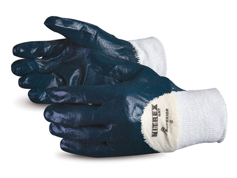 GNT Superior® Nitrex™ Puncture Resistant Waterproof Cotton Work Glove w/ 3/4 Nitrile Palm Coat