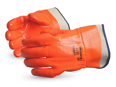 North sea fully coated pvc gloves cold weather pvc for Cold weather fishing gloves
