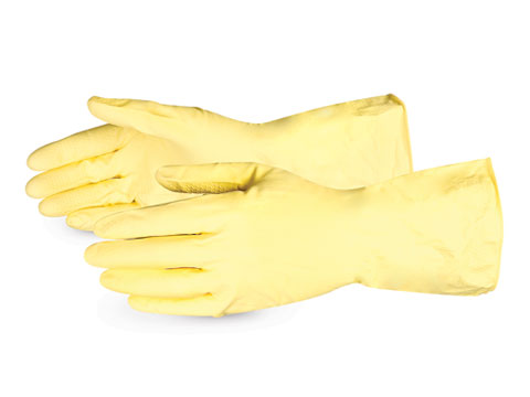 #LF3020Q Superior Glove® Chemstop™ Yellow Flock-Lined Latex Chemical-Resistant Glove