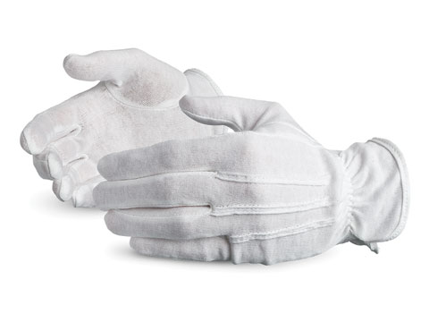 #LL100 Superior® Glove Cotton Inspectors Parade Pattern Gloves