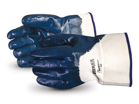 #N934B Superior Glove® Nitrex Heavy-Duty 3/4 Nitrile-Coated Gauntlet