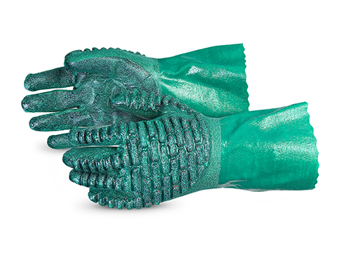 #NT230VSB Superior Glove® Chemstop™ Nitrile Gloves w/ Ceramic-Powder Grip & Chloroprene Backs