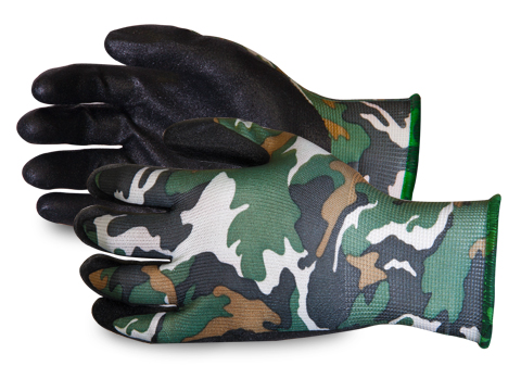 #S13CAMPN Superior Glove® Dexterity® Camo Micropore Grip Gloves