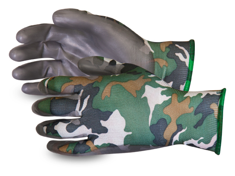 Superior Glove® Dexterity® Camo Micropore Grip Gloves