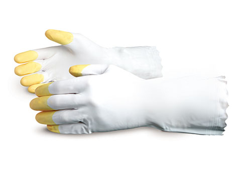 #V3016RT Superior Glove® Two-Tone Unsupported Vinyl Canner Gloves