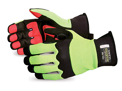 Superior Glove® #MXHV Clutch Gear® High-viz Mechanics Oilfield Glove