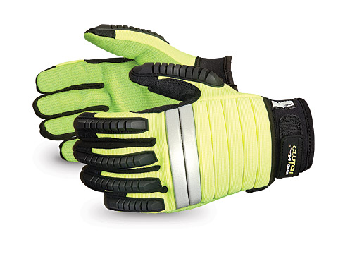 Superior® Glove Clutch Gear® Flex-Ribbed Impact Mechanics Glove w/ Kevlar® #Q5VSB
