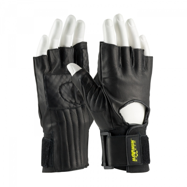 PIP Maximum Safety® Anti-Vibration Padded Half Finger Gloves #122-AV40