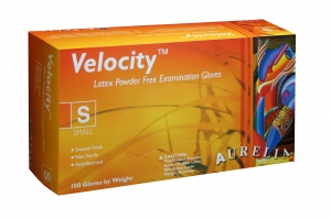 Aurelia® Velocity™ Disposable Powder-Free Latex Exam Gloves