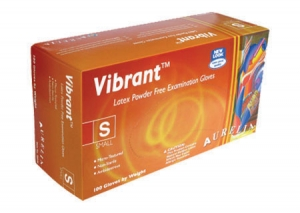 Vibrant™ Powder Free Latex Exam Gloves
