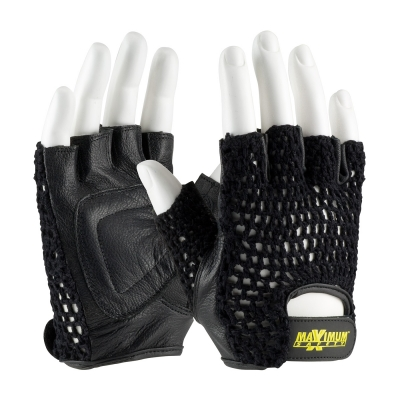 #122-AV14 PIP Maximum Safety® Mesh Lifting Gloves with Reinforced Padded Leather Palm
