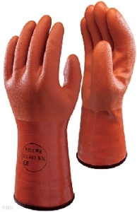 Atlas® 460 Insulated Orange Coated Chemical-Resistant PVC Gloves