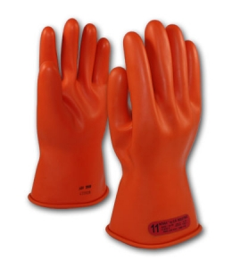 ESP Class 0 Gloves, Orange, 147-0-11, PIP 11` Novax® Electrical Safety Class 0 Rubber Insulating Work Gloves