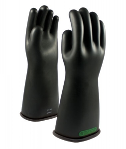 ESD Class 3 Gloves, 150-3-16 PIP Novax® Electrical Safety Class 3 Rubber Insulating Work Gloves, Black