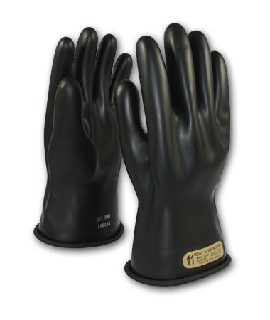 #150-00-11 PIP® 11` Novax® Electrical Safety Class 00 Rubber Insulating Work Gloves, Black
