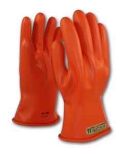 PIP 11` Novax® Electrical Safety Class 00 Rubber Insulating Work Gloves, #147-00-11 Orange